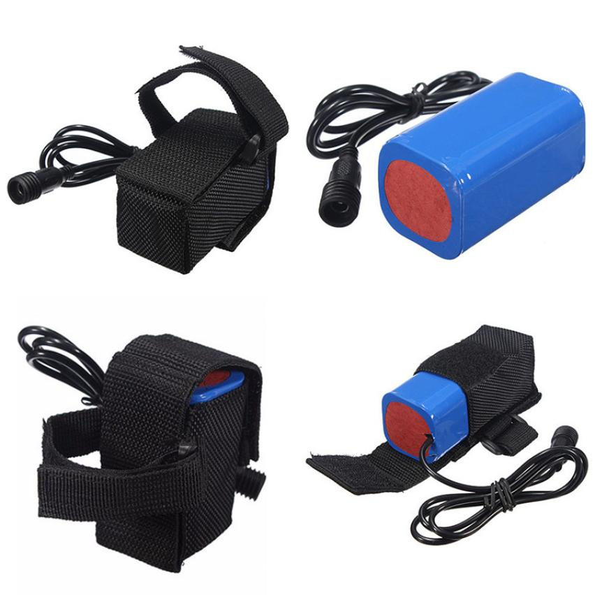 MUQGEW 8.4V 6400mAh Rechargeable 4x 18650 Battery Pack For Head lamp Bike Bicycle Light Bicycle Accessories Battery Storage rechargeable 8 4v 4400mah 18650 battery pack for bike light black