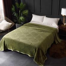 300GSM suave cálido en relieve franela mantas para las camas sólido verano Throw Winter bedsply Coral Fleece mantas de cuadros