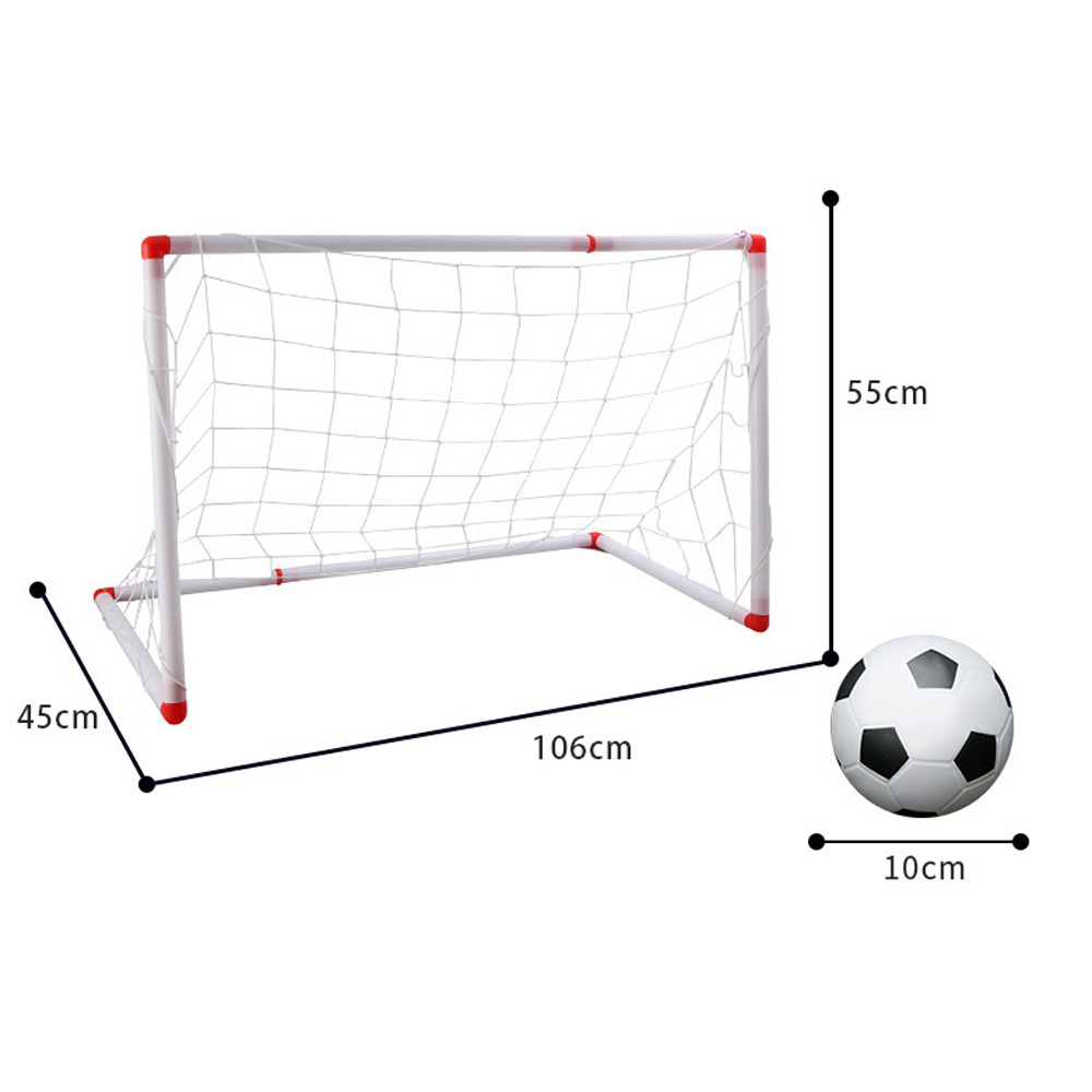 DIY Children Sport Football Soccer Goal Post Net Training Garden Gate W/Ball Set