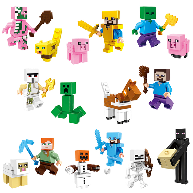 2018 HOT Minecraft Mineral Mining Minifigure Building Blocks Sets Educational Toy for Children Compatible LegoING Christmas Gift 4