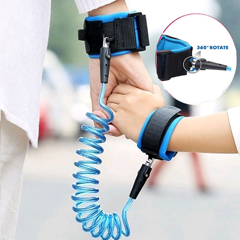 Child Kid Baby Anti-Lost Wrist Link Safety Harness Strap Rope Leash Hand Belt IR