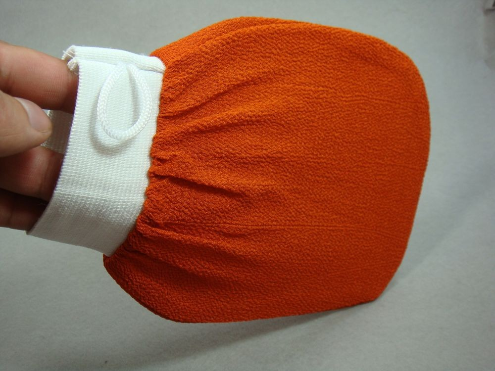1Pcs Korean Italy Exfoliating Body-Scrub Glove Towel Green Red Shower Scrubber G
