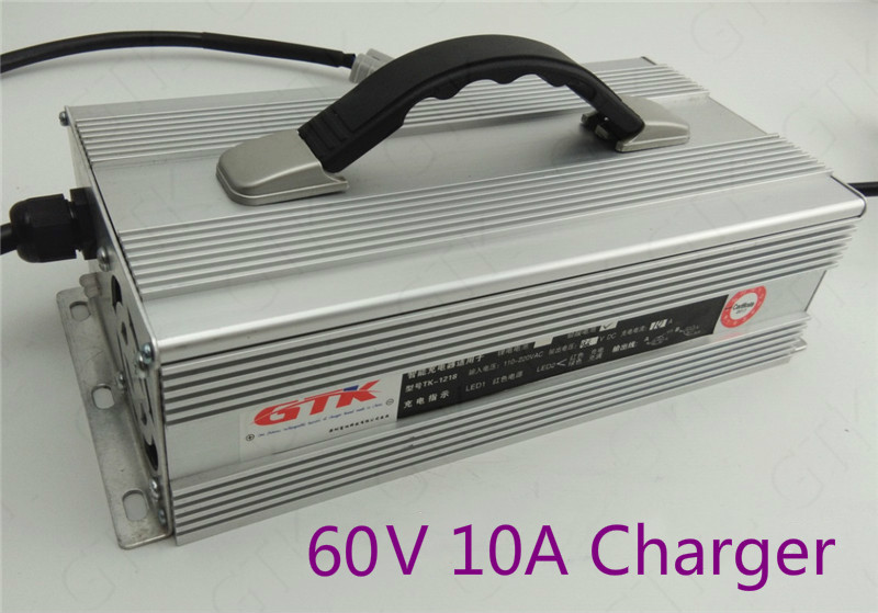 Lovely Lead Acid Battery Charger 60v 10a 600w Charger Aluminum Case For Electric Tricycle Electric Motorcycle Cnc Cctv Motor E-bike Chargers