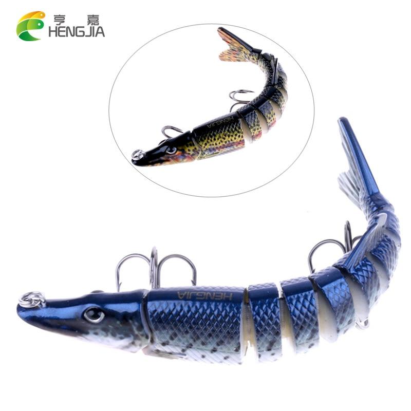 HENGJIA 1 kusy Pike Muskie Rybářská návnada 20g isca umělá Swimbait živá Muliti kloubová návnada Crankbait Fishing Tackle