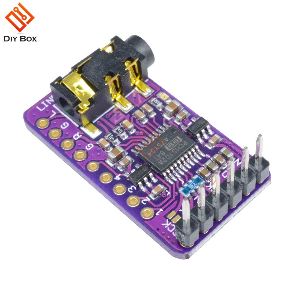 1 Pcs Interface I2s Pcm5102 Dac Decoder Gy-pcm5102 I2s Player Modul Für Raspberry Pi Phat Format Bord Digital Audio Board Taille Und Sehnen StäRken
