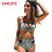 Bikini Set 2017 New Retro Summer High Waist Print Sexy Women Bikini Set Push Up Swimwear