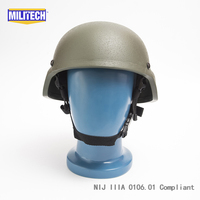 NIJ IIIA Green Mich 2000 Bullet Proof Helmet NIJ 3A Aramid Mich Helmet Kevlar Bulletproof Mich