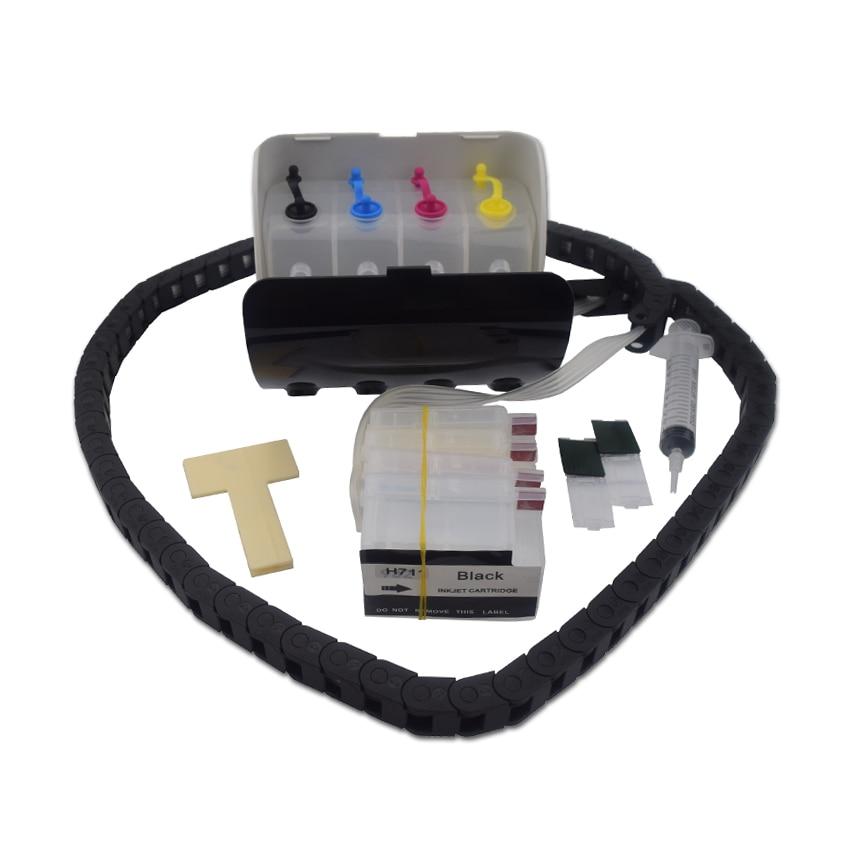 Ciss en vrac pour système d'alimentation en encre HP711 avec puce pour imprimante HP Designjet T120 T520 utilisation permanente