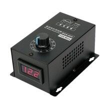 شاشة ديجيتال 0 ~ 100% قابل للتعديل تيار مستمر 6 90 فولت 15A وحدة تحكم في سرعة محرك التيار المستمر PWM منظم 12 فولت 24 فولت 48 فولت 60 فولت 72 فولت 90 فولت 1000 واط عكسها
