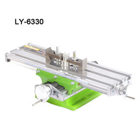 LY6330 multifunction Milling Machine Bench drill Vise Fixture worktable X Y axis adjustment Coordinate table for Milling Machine