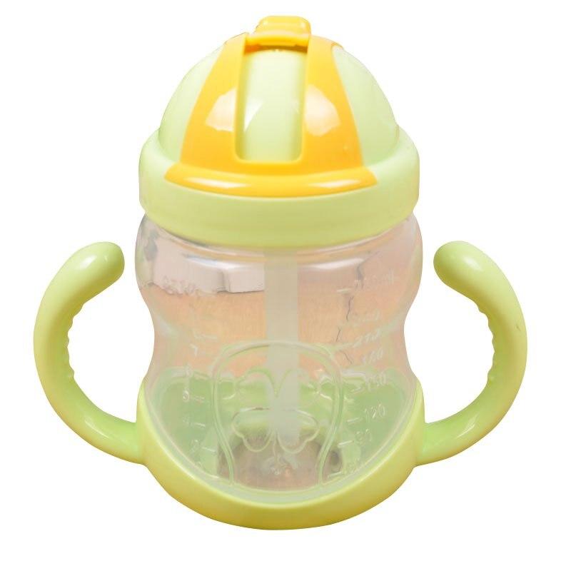Newborn Baby Feeding Bottle Sippy Cup Baby Nursing Milk Water Fruit Juice Bottle Baby Double Handle Nipple Pacifier Drink Bottle
