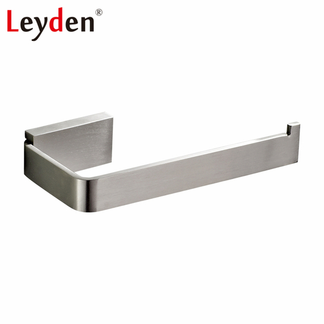 leyden toiletrolhouder vierkante dispenser wandmontage toilet moderne rvs geborsteld nikkel badkamer accessoires