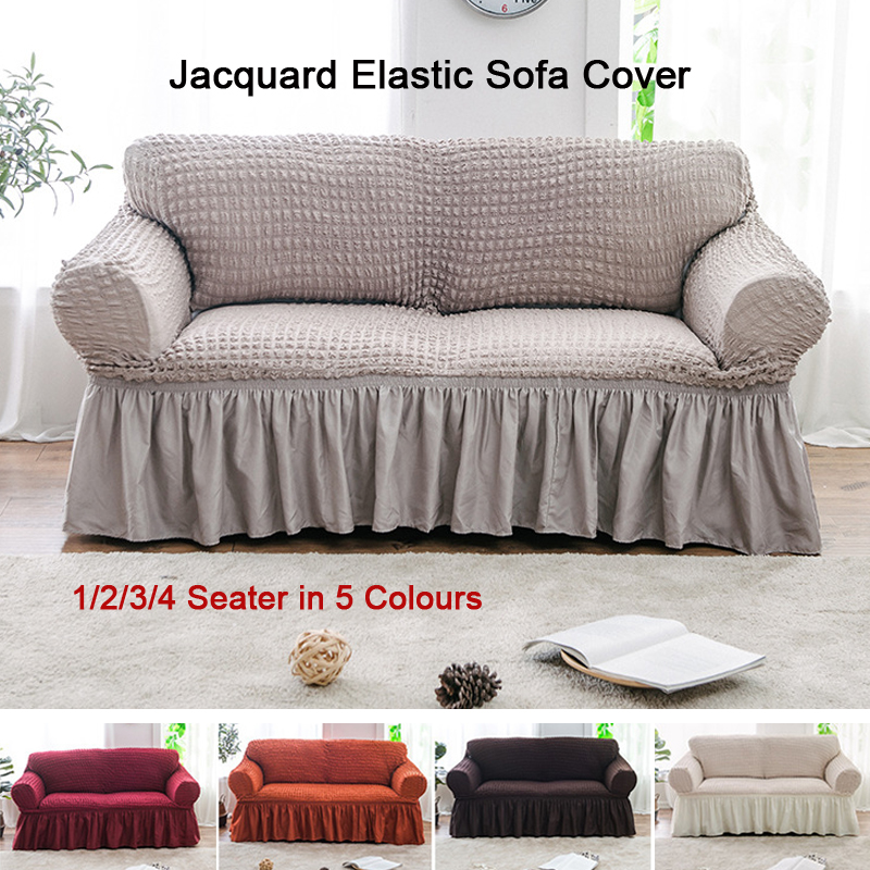 US $29.0 50% OFF|European Style Jacquard Elastic Skirt Set Modern Sofa  Cover Universal Sleeve Elastic Skirt Full Cover Couch Slipcover-in Sofa  Cover ...