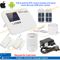 free shipping IOS & android APP control Intercom wireless GSM alarm system security home kit with relay English,russian language