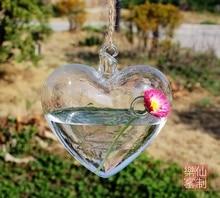 Clear Hanging Heart Vase, Home And Garden Decor Transparent Planting Vase