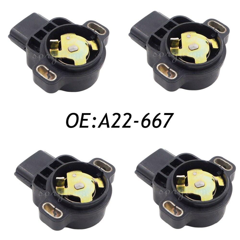 4PCS A22 667 Throttle Position Sensor TPS For Subaru Baja