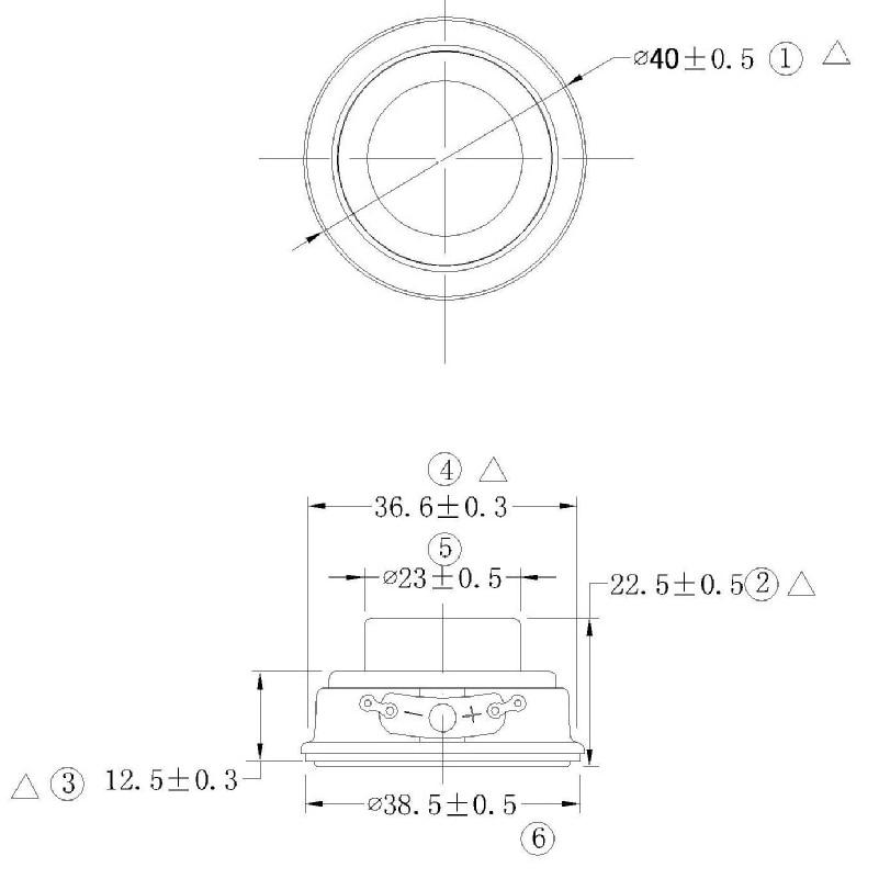 TONLEN 2Pcs 40mm Full Range Բարձրախոս 1.5inch 5W 4ohm HiFi - Դյուրակիր աուդիո և վիդեո - Լուսանկար 6