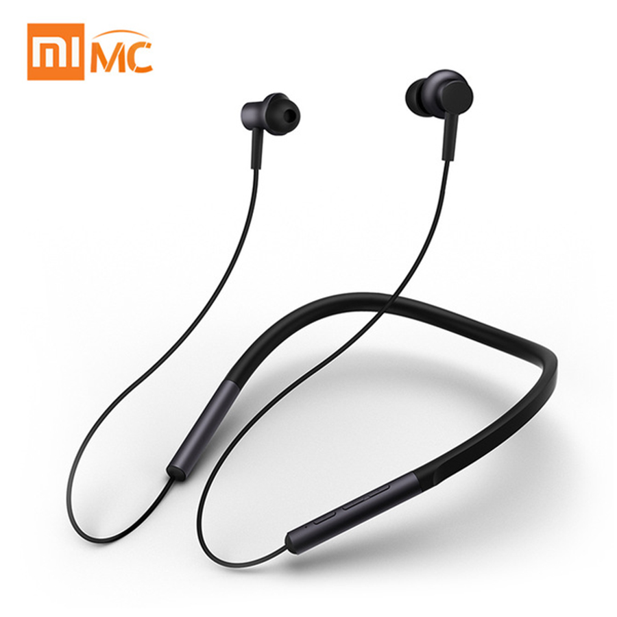 Original Xiaomi Bluetooth Collar Earphones Headset Sport Wireless Headphone In Ear Magnetic Mic Play Dual Dynamic