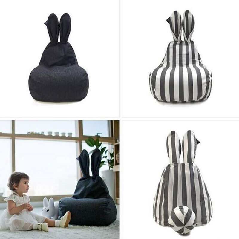 Superb Us 54 39 32 Off Nordic Baby Bean Bag Chair Pouf Kids Sofa Baby Seat Pillow Big Size Portable Chairs For Baby Infant Room Decor Stripe Pink Black In Creativecarmelina Interior Chair Design Creativecarmelinacom