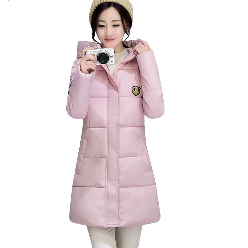 الشتاء سترة معطف المرأة 2017 الساخن بيع ستر طويلة الأزياء الطلاب ضئيلة الإناث الملابس زائد حجم 3xl سميكة الستر YAGENZ402