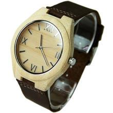 Мода белый бамбук деревянные часы для мужчин и женщин с высокое качество Japen движение
