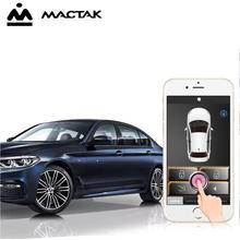 SmartPhone Control PKE Car Alarm System Kit Smart Passive Auto Central Locking Door Keyless Push Remote Button 966A