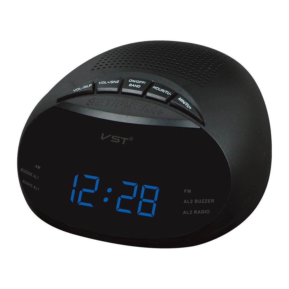 LumiParty Clock-Controlled LED Alarm Clock with Radio & Snooze Function Gift Decoration European Specification -30