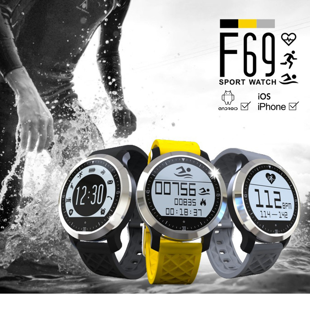 2016 New F69 IP68 Waterproof Sports Bluetooth font b Smart b font font b Watch b
