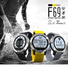 2016ใหม่F69 IP68กันน้ำกีฬาบลูทูธสมาร์ทนาฬิกาว่ายน้ำติดตามการออกกำลังกายการนอนหลับอัตราการเต้นหัวใจMonitor s mart w atch