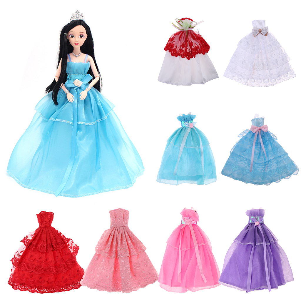 New Arrivals Sheer Tulle Dress Party Outfit Clothes for Barbie Dolls ...