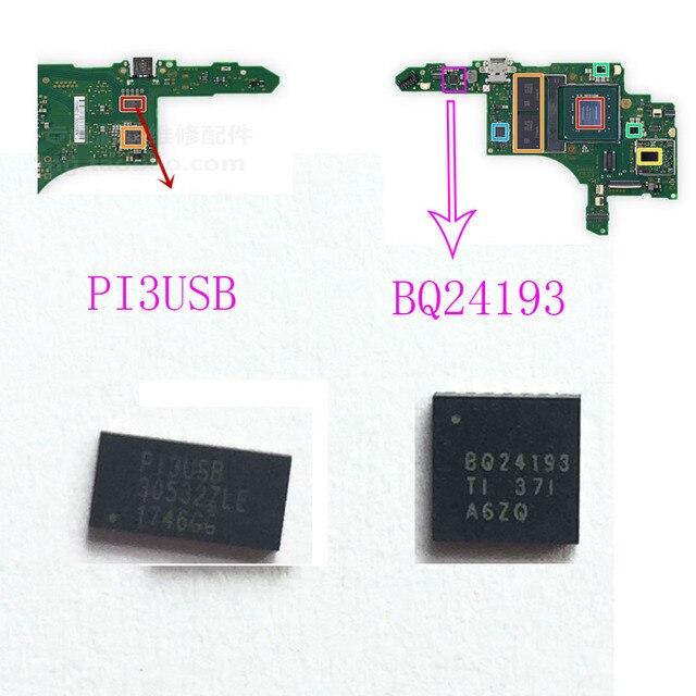 Pi3usb bq24193 ficha ic para nintendo switch, gerenciamento de bateria, original
