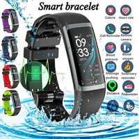Smart Fitness Armband Tracker Uhren Schrittzähler Herz Rate Monitor Smartband Blutdruck Sport Uhr Uhr Ip67 Armband
