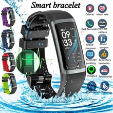 Smart Fitness Bracelet Tracker Watches Pedometer Heart Rate Monitor Smartband Blood Pressure Sports Clock Watch Ip67 Wristband