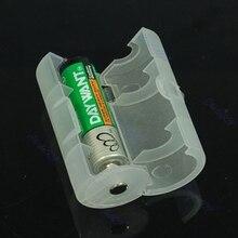 2pcs AA to D Size Battery Adaptor Holder Case Converter-U1JA 10166