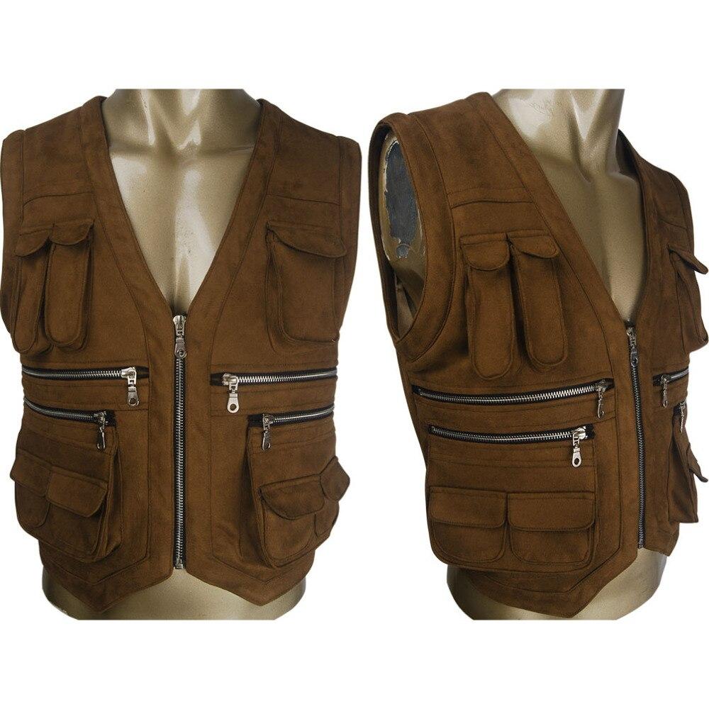 Men's Jurassic World cosplay Owen Grady vest jacket costume Halloween make-up costume Sci-Fi film outfit suit X'mas birthday