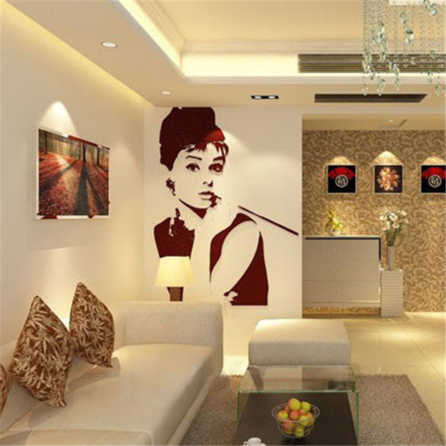 Adesivi Murali Audrey Hepburn.Audrey Hepburn Acrilico 3d Adesivi Murali Tridimensionali Che Vivono