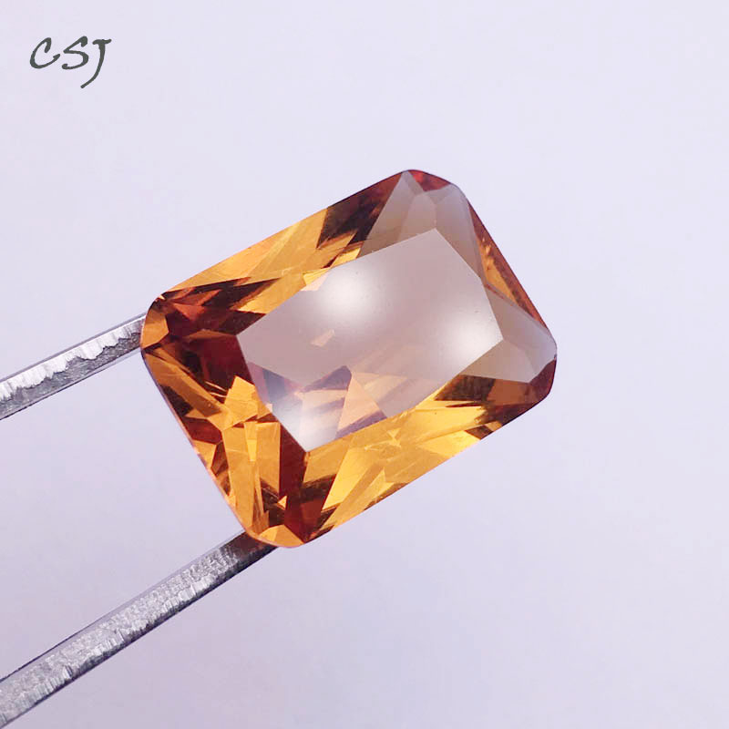 CSJ Created Diaspore Zultanite Rectangle Cut Loose Gemstone Sultanite For Diy Fine Jewelry Silver Mounting Color Change Stone