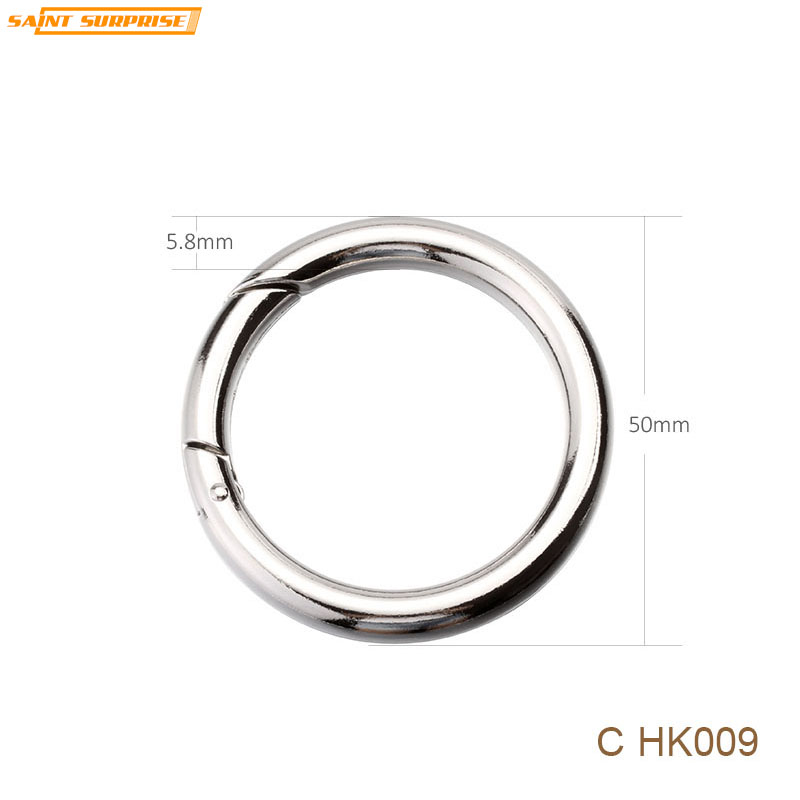 Jewelry Sets & More Objective Nickel Plated O Shape Zinc Alloy Spring Snap Hook Metal Keyring Keychain Key Ring For Diy Accessories Chk009 5.8mm X 50mm