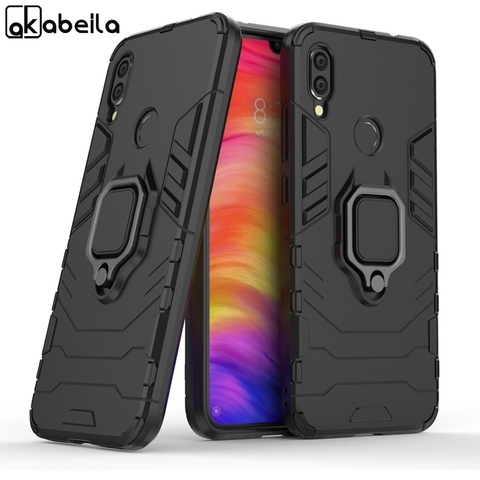 Silicone Cases For Xiaomi redmi note 7 Covers For Xiaomi Mi Play Case FingerRing Hard Bags Iron Man Housings Pakistan