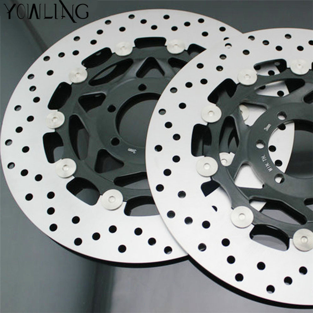 298MM Motorcycle Front Wavy Floating Brake Disc Rotor For YAMAHA XJR400 1993-1999 FZR600 FZS600 FAZER FZ750 TDM850 TRX850 FJ1200 keoghs mosda motorcycle brake disc brake rotor floating 260mmdiameter for yamaha scooter bws cygnus front disc replace modify