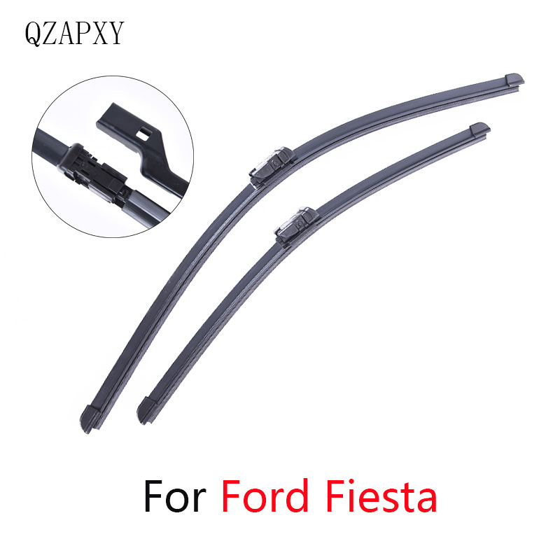 QZAPXY Wipers Blade For <font><b>Ford</b></font> <font><b>Fiesta</b></font> from 2002 <font><b>2003</b></font> 2004 2005 2006 2007 2008 to 2017 Windscreen wiper Wholesale Car <font><b>Accessories</b></font> image