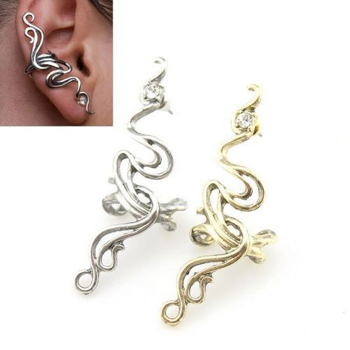Free Shipping 1 Pcs Ladies Punk Earring Clip Earrings Exaggerated Influx Of People Ear Cuff Clip Earring 2016 New