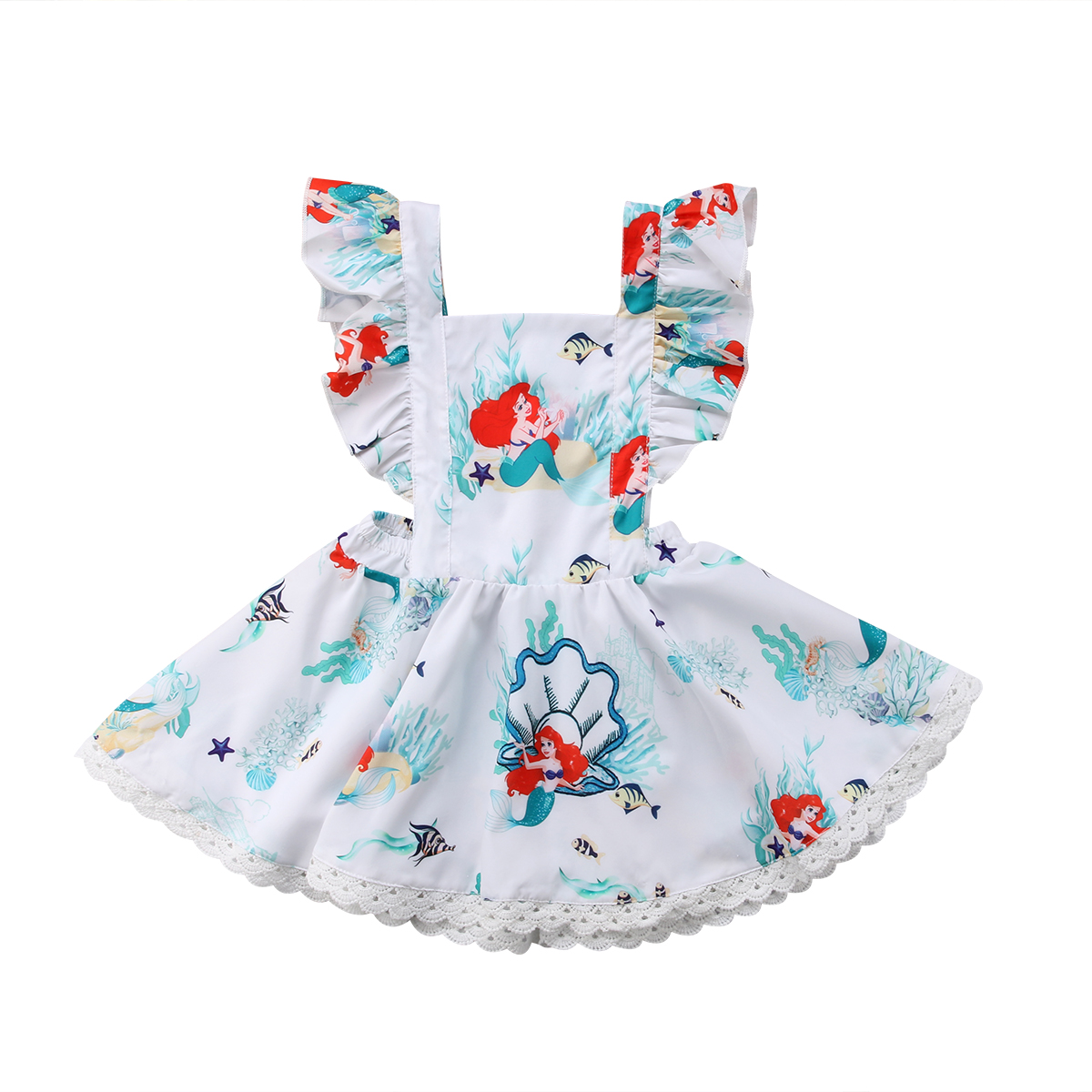 Toddler Baby Kids Girl Lace Clothes Dresses Summer Backless Sleeveless Cute Mini Party Dress Girls 0-5T ems dhl free shipping toddler little girl s 2017 princess ruffles layers sleeveless lace dress summer style suspender