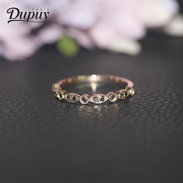 Dupuy Exquisite Diamond Engagement Ring 14k Rose Gold Inlaid Black