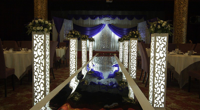 Wedding carved pillar column wedding road lead stand wedding decoration 4pcs/lot