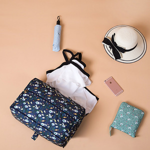 Image 3 - High Quality Nylon Folding Travel Bag Large Capacity Women Duffle Bag Organizer Packing Cubes Luggage Printing Men Weekend Bag