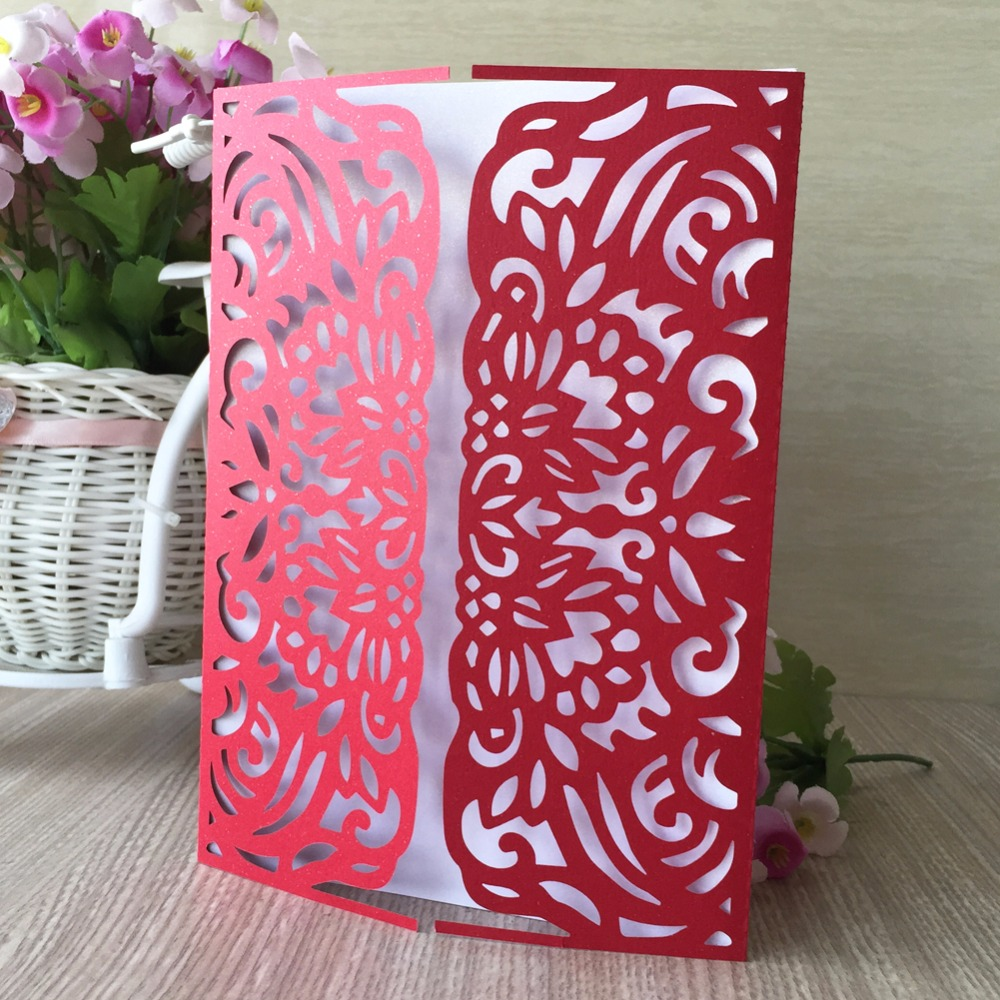 50pcs Wedding Invitations Cover Card Decoration Best Wishes Card ...
