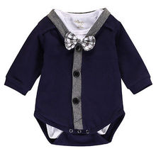 2pcs!!Newborn Baby Boy Gentleman Bow Cardigans Sweatshirt Coat+Long Sleeve Romper Jumpsuit Outfits Clothes 0-18M