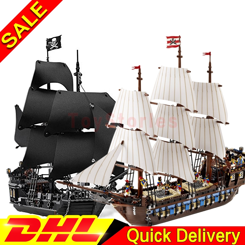 LEPIN 16006 Black Pearl Ship 22001 Imperial Warships Model Building Blocks children Pirates Kits legoings Toys Clone 4184 10210 lepin 22001 pirates series the imperial flagship model building blocks set pirate ship legoings toys for children clone 10210