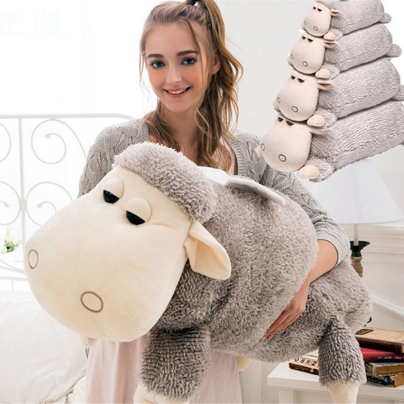 Fancytrader 39'' / 100cm Giant Plush Stuffed Soft Lovely Cute Animal Sheep Toy, 2 Colors Available, Free Shipping FT50570 fancytrader real pictures 39 100cm giant stuffed cute soft plush monkey nice baby gift free shipping ft50572